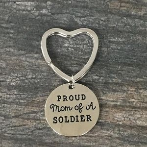 Proud Soldier Mom Keychain, Soldier Jewelry